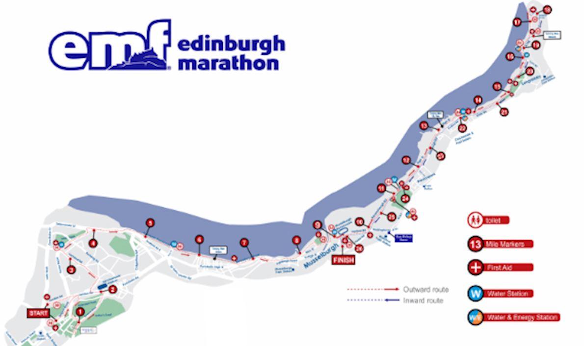 Edinburgh Marathon Festival Route Map