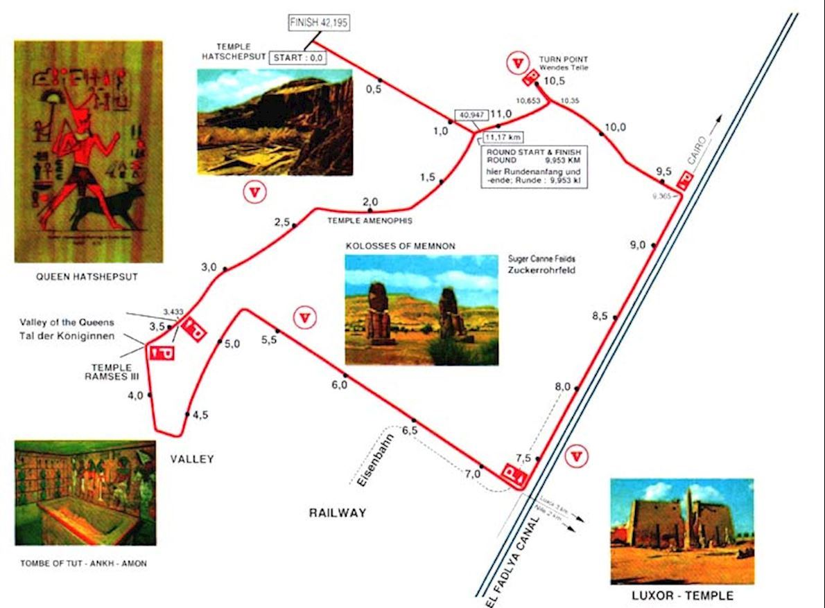 Egyptian Marathon Route Map