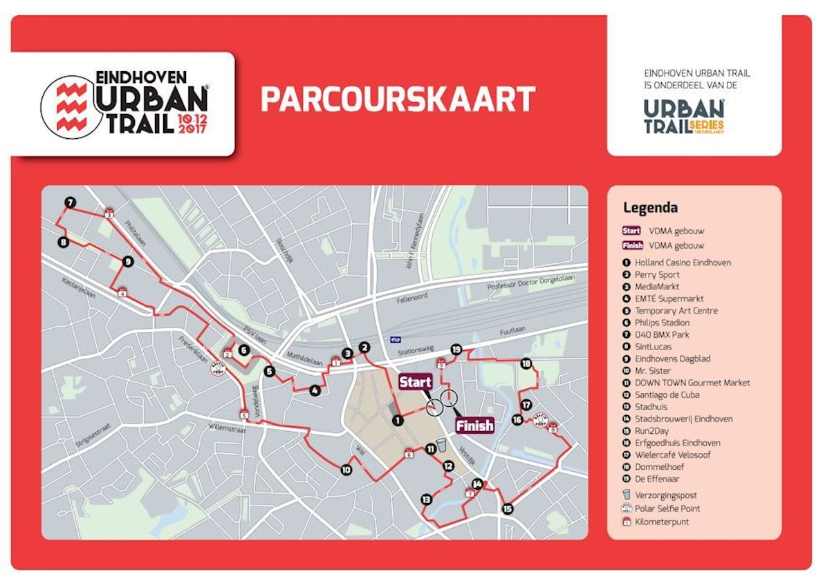 Eindhoven Urban Trail 路线图