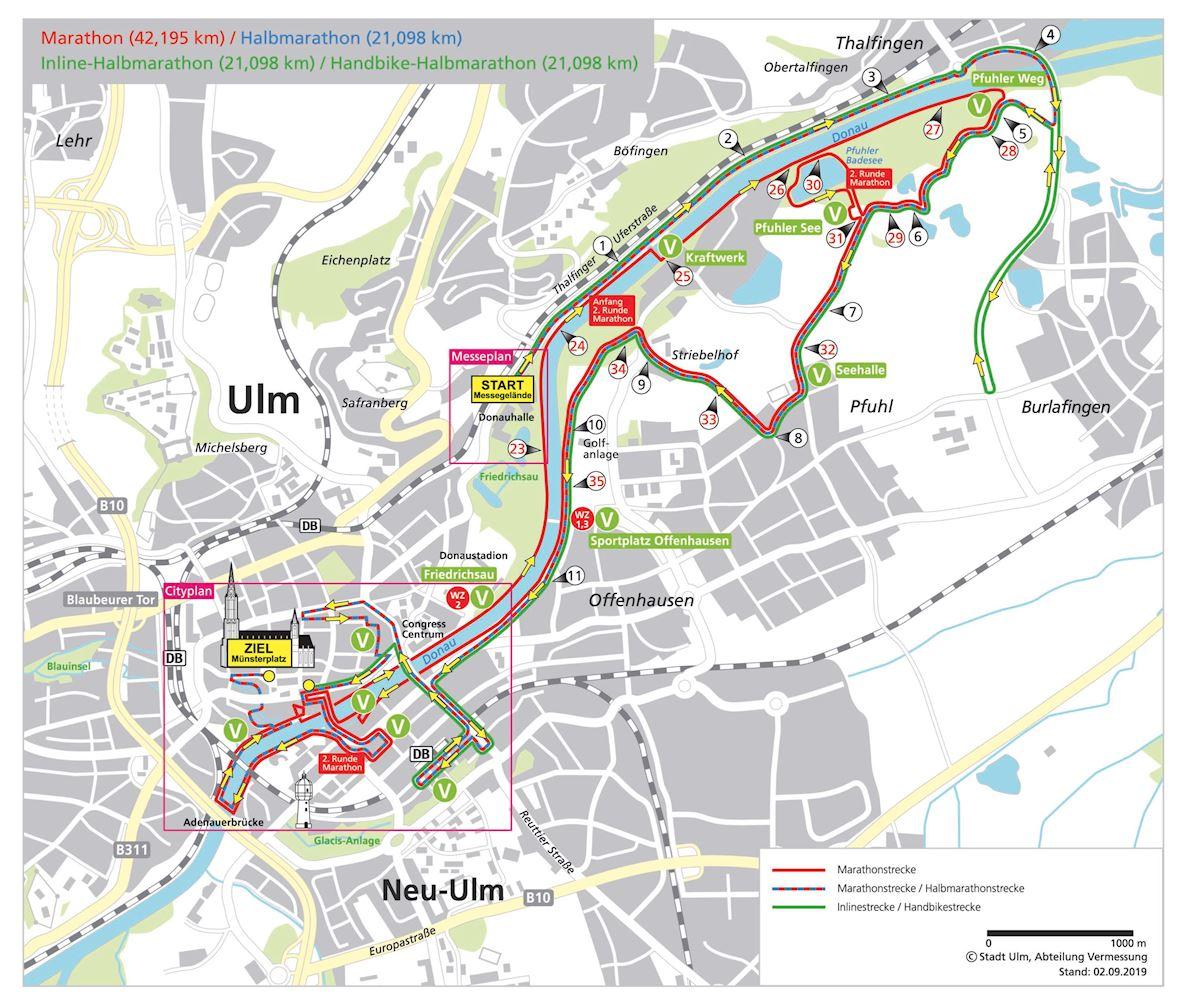 Einstein Marathon Route Map