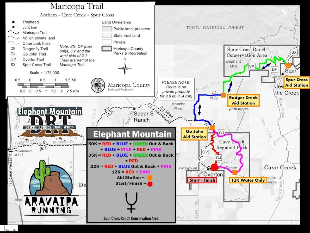 Elephant Mountain Route Map