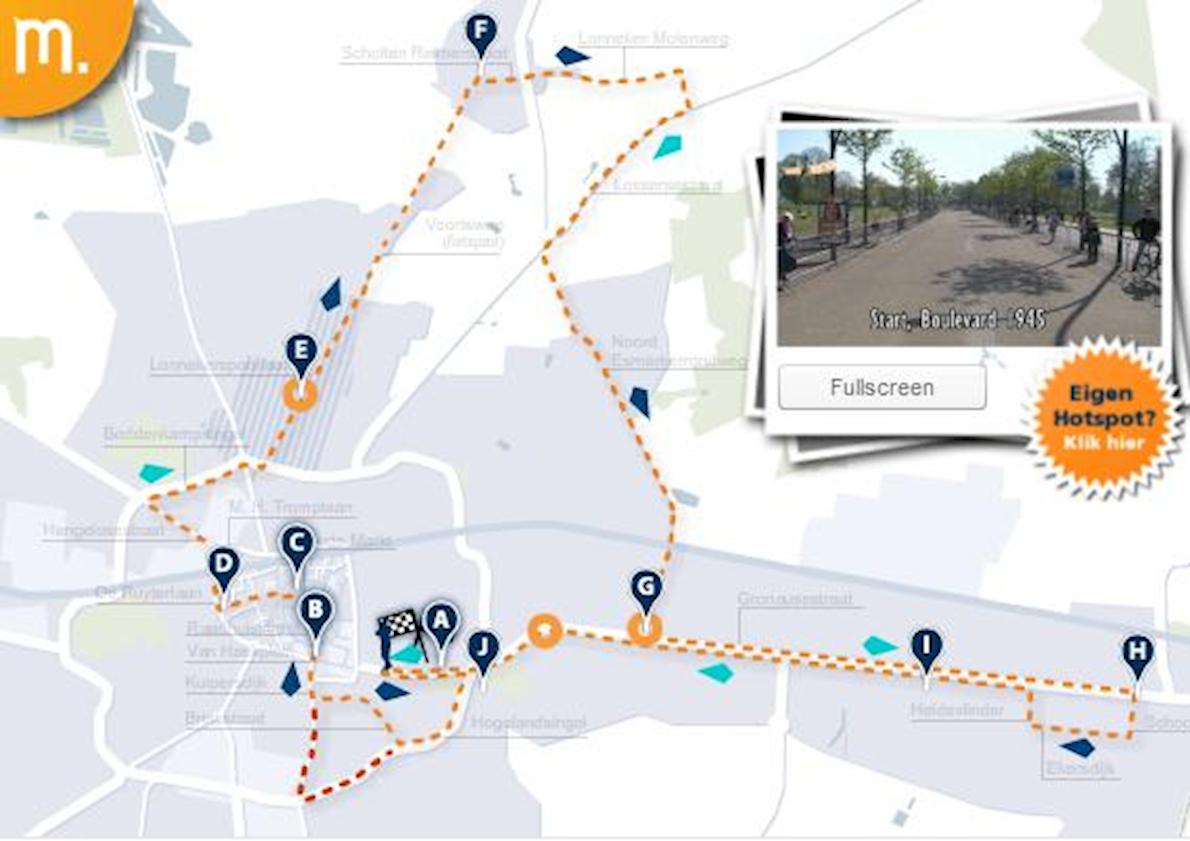 Enschede Marathon Route Map