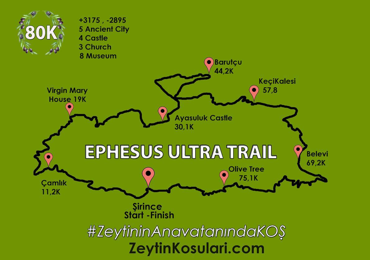 Ephesus Ultra Trail Mappa del percorso