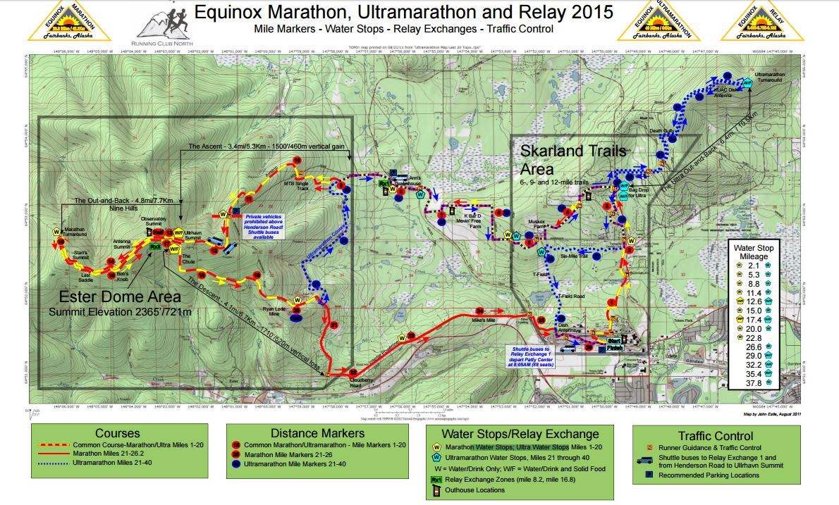 Equinox Marathon Mappa del percorso