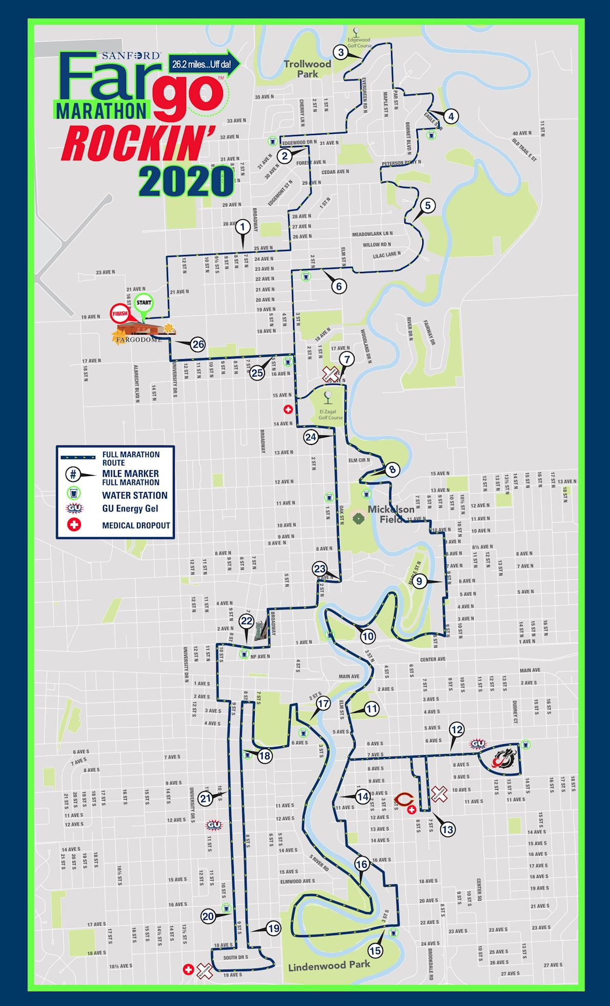 Fargo Marathon Route Map