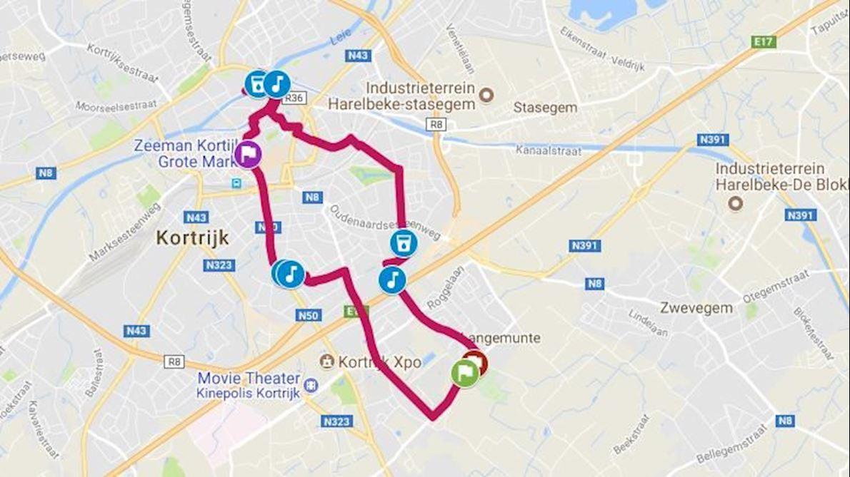 Fintro Kortrijk Loopt Voor Think Pink 路线图