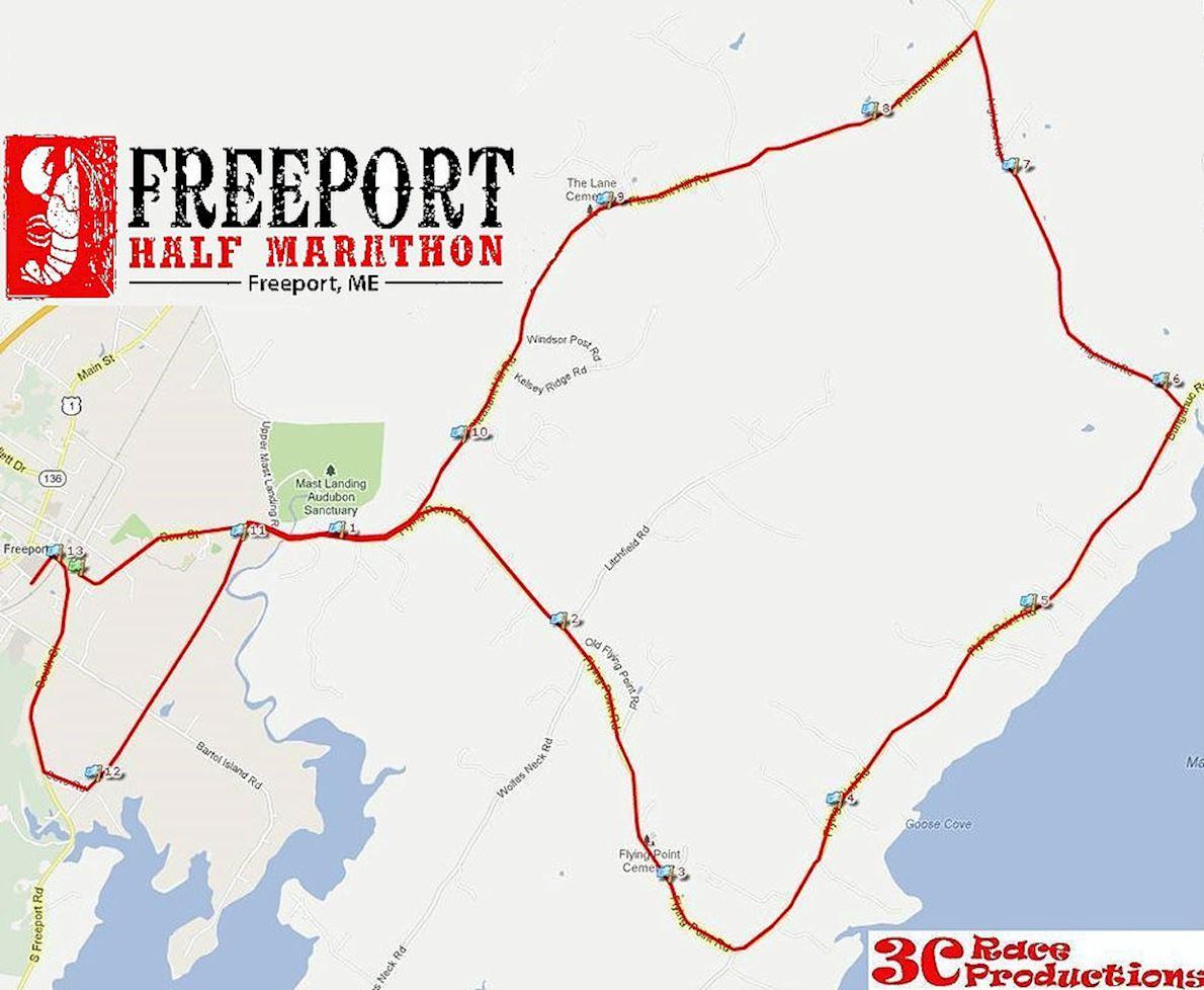 Freeport Half Marathon Mappa del percorso