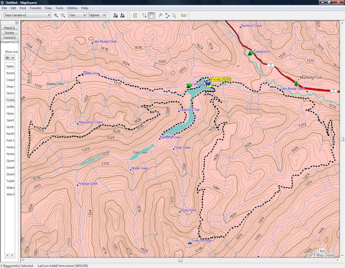 Frosty Mountain Ultra Trail Race 路线图