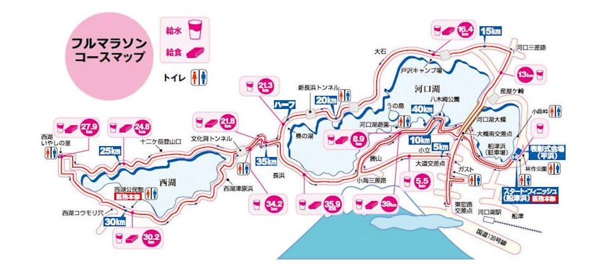 Fujisan Marathon Mappa del percorso