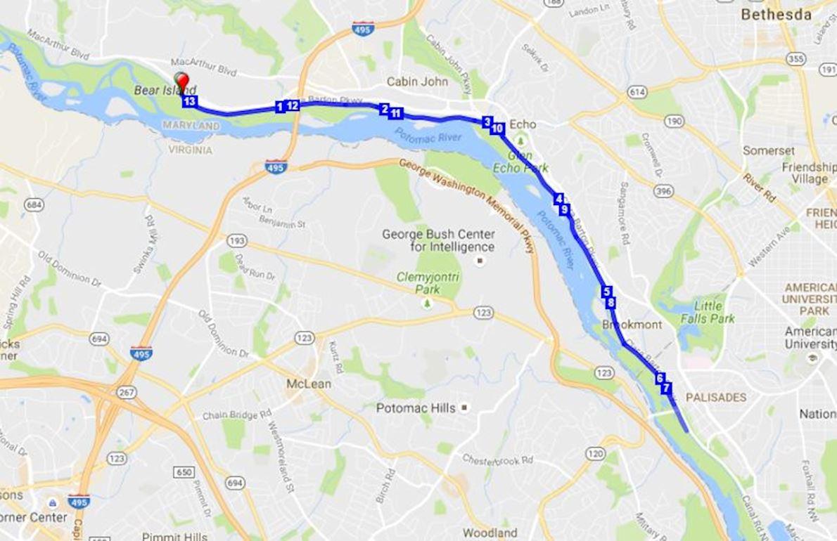 Gar Williams Half Marathon Route Map
