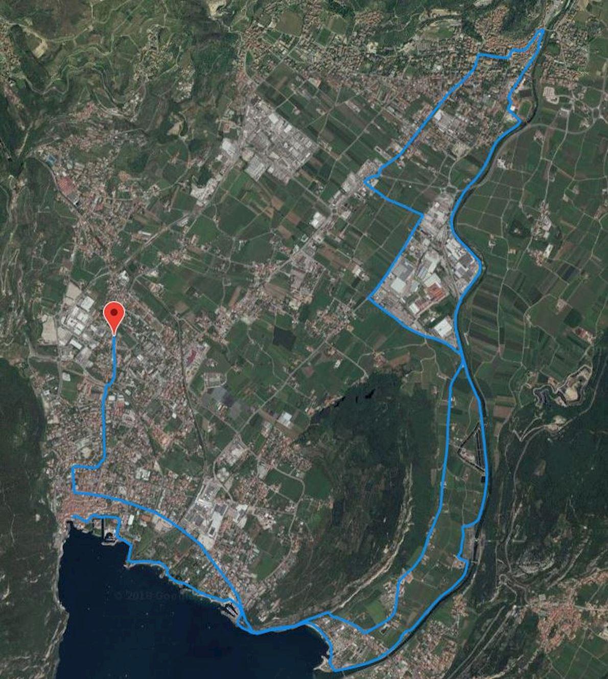 Garda Trentino Half Marathon Route Map