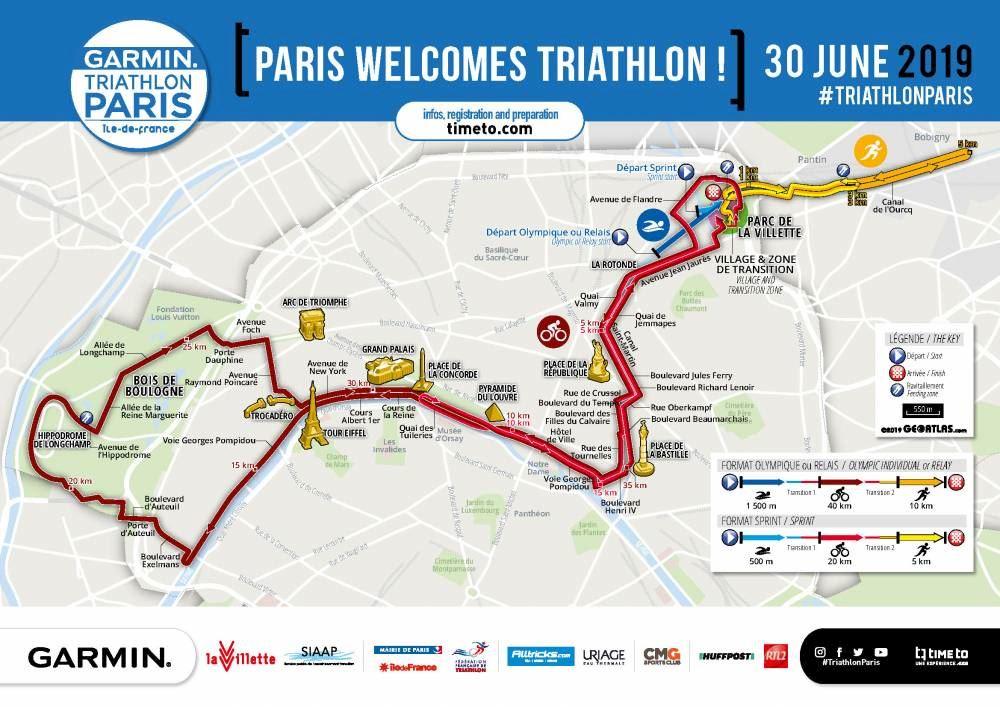 Garmin Triathlon de Paris MAPA DEL RECORRIDO DE