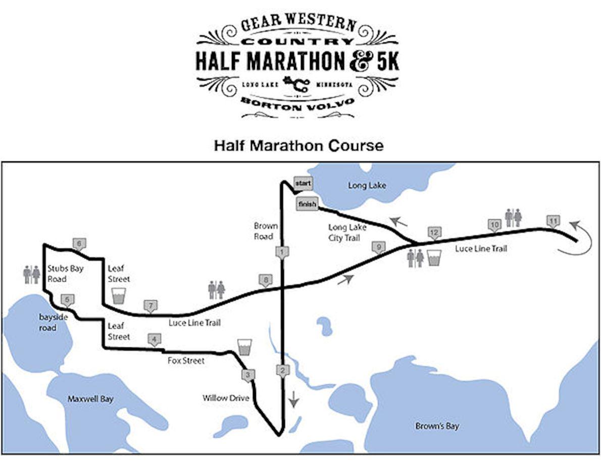 Gear Western Country Half Marathon 路线图