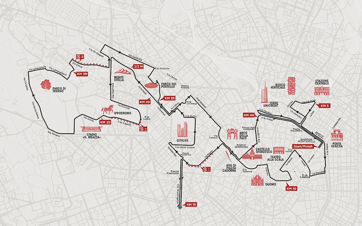 Generali Milano Marathon 2019 Route Map