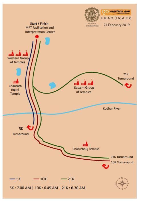 Go Heritage Run - Khajuraho Route Map