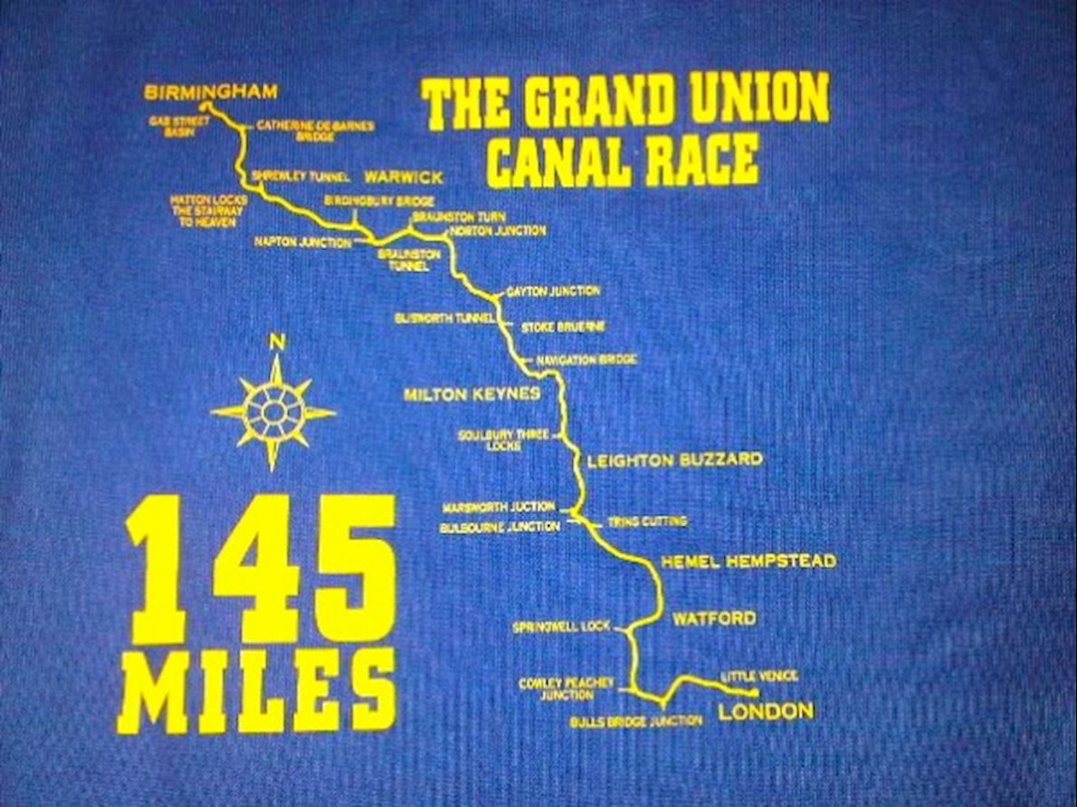 Grand Union Canal Race Route Map