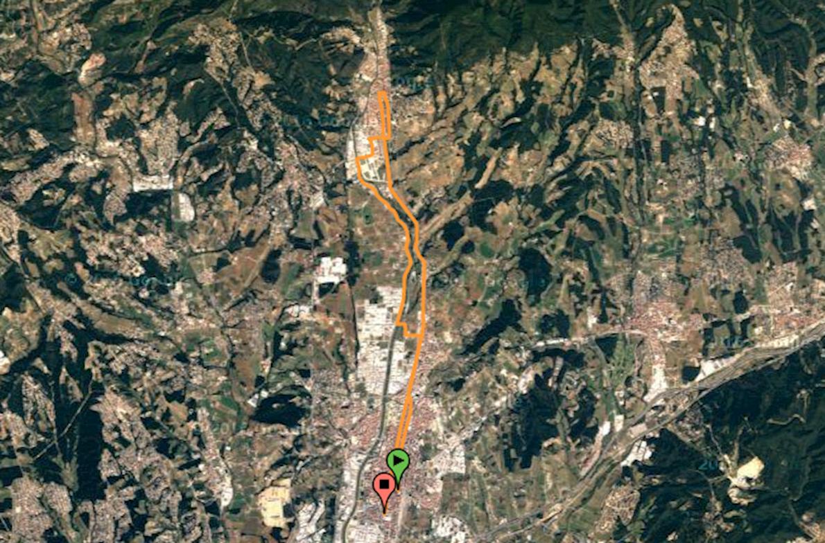 Granollers Half Marathon Mappa del percorso