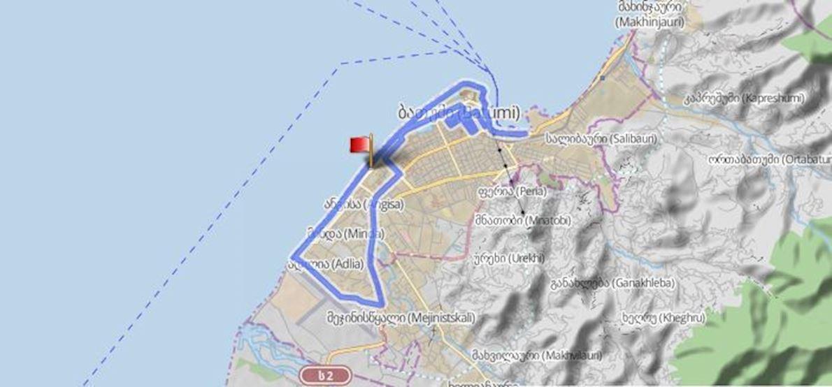 Great Batumi Night Race Route Map