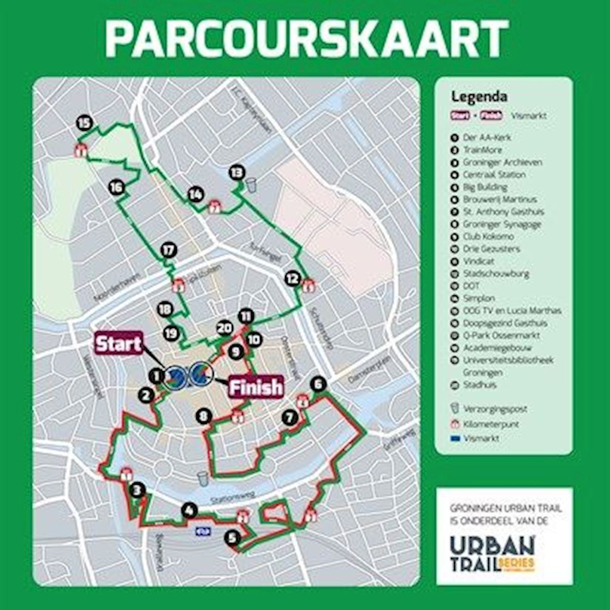 Groningen Urban Trail Route Map