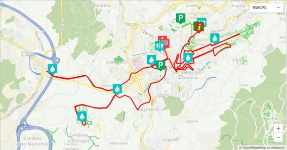 Meia Maratona de Guimarães – Corrida dos Conquistadores Routenkarte