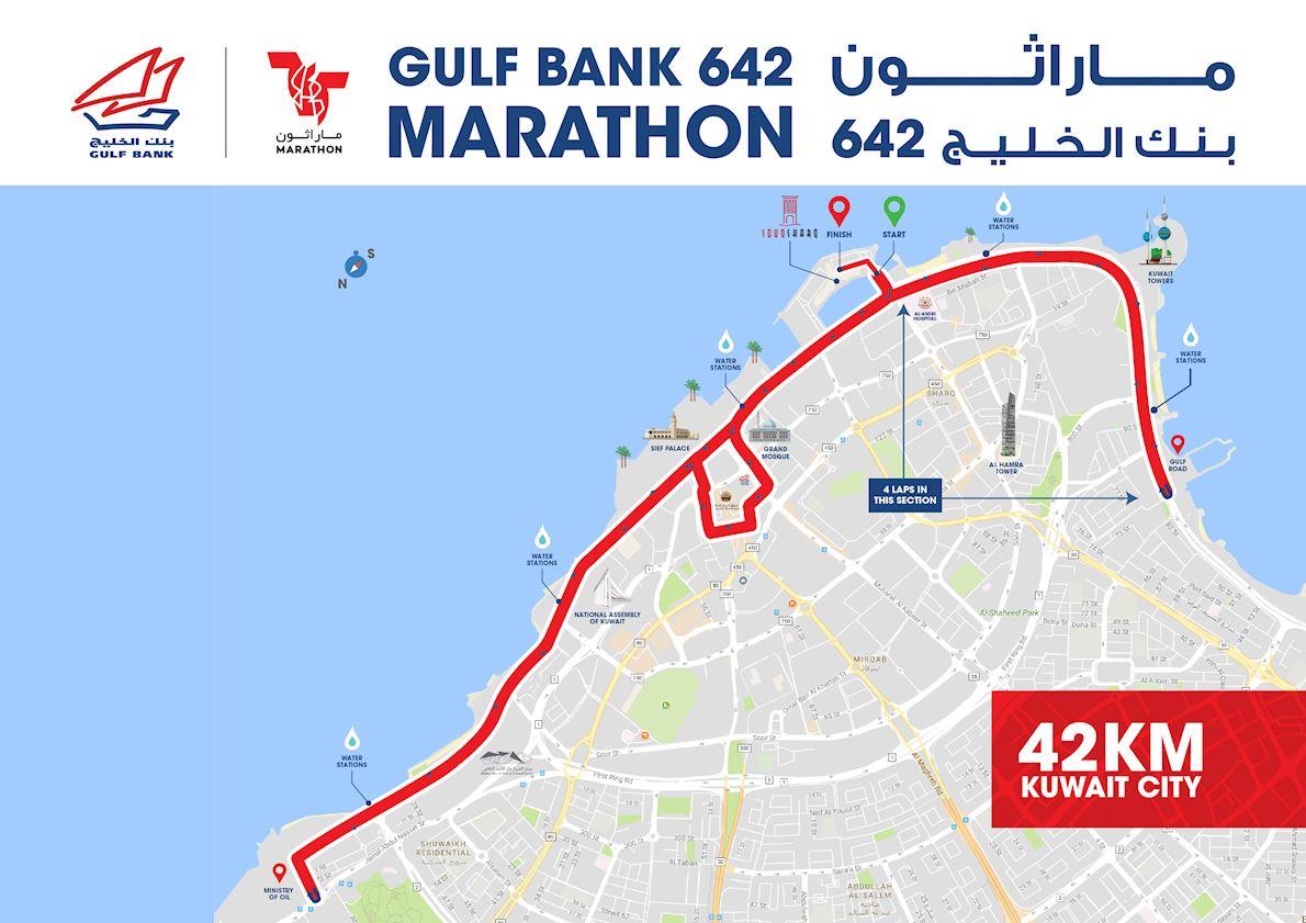 Gulf Bank 642 Marathon Routenkarte