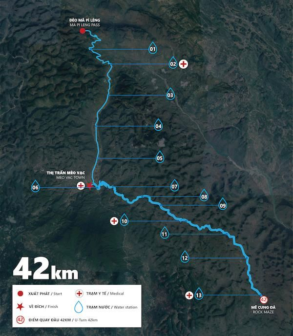 Ha Giang Discovery Marathon Route Map