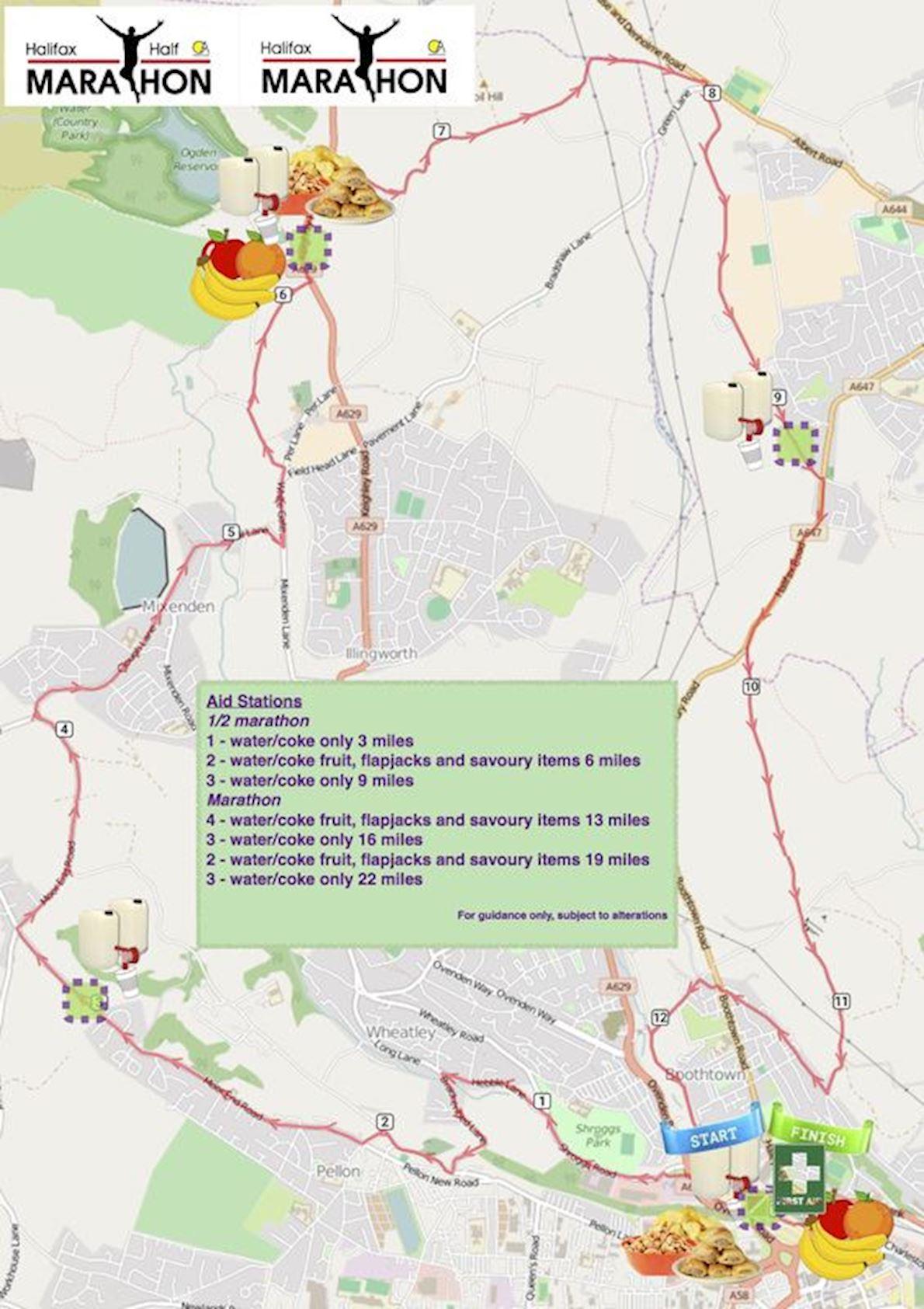 Halifax Marathon & Half Marathon 路线图