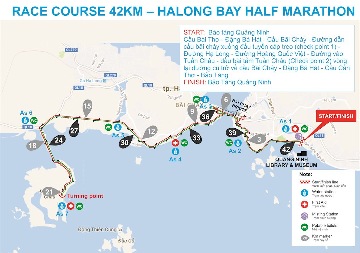 Route Map Halong Bay Heritage Marathon