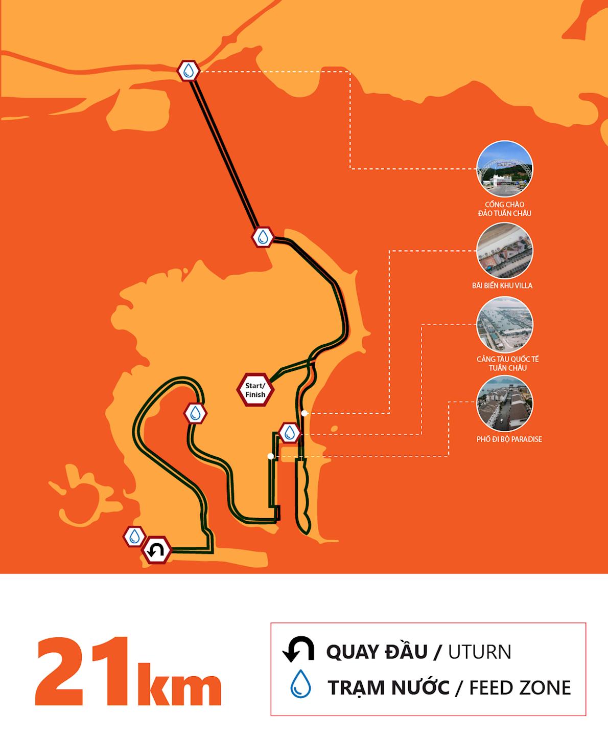 Ha Long Bay Marathon 路线图