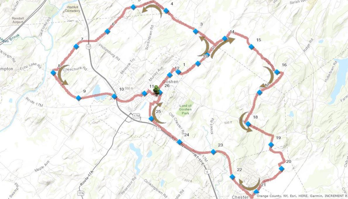 Hambletonian Marathon Routenkarte