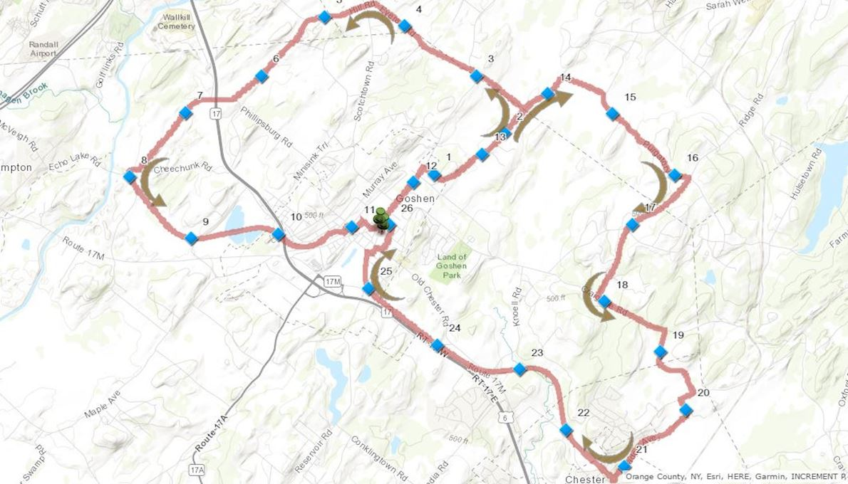 Hambletonian Marathon Route Map