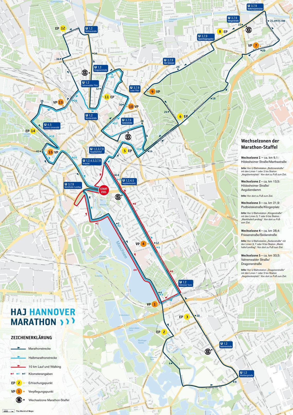 HAJ Hannover Marathon Route Map