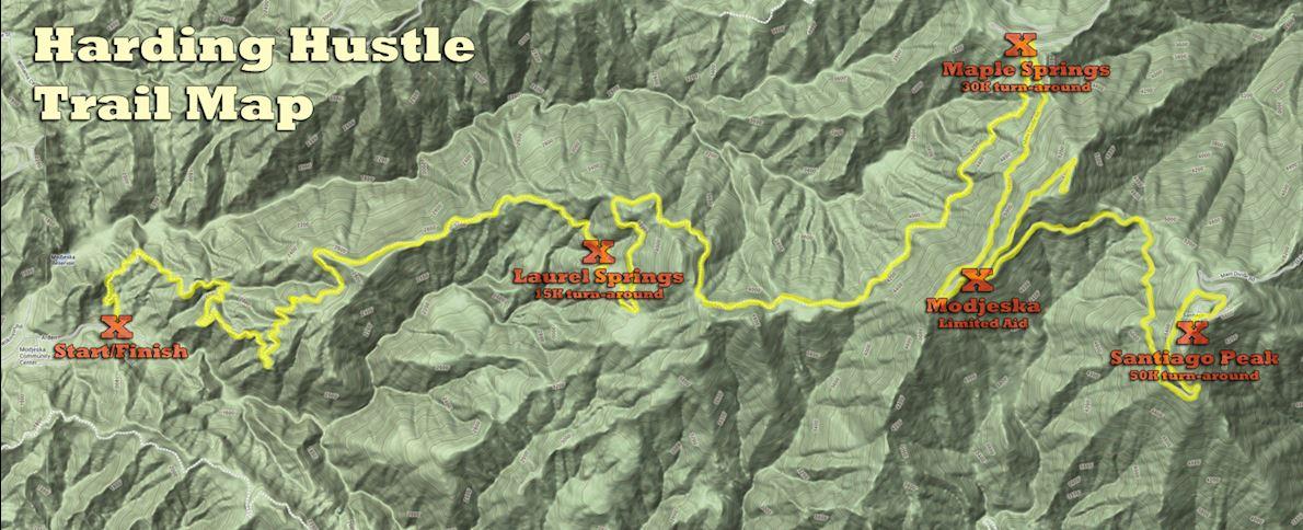 Harding Hustle Mappa del percorso