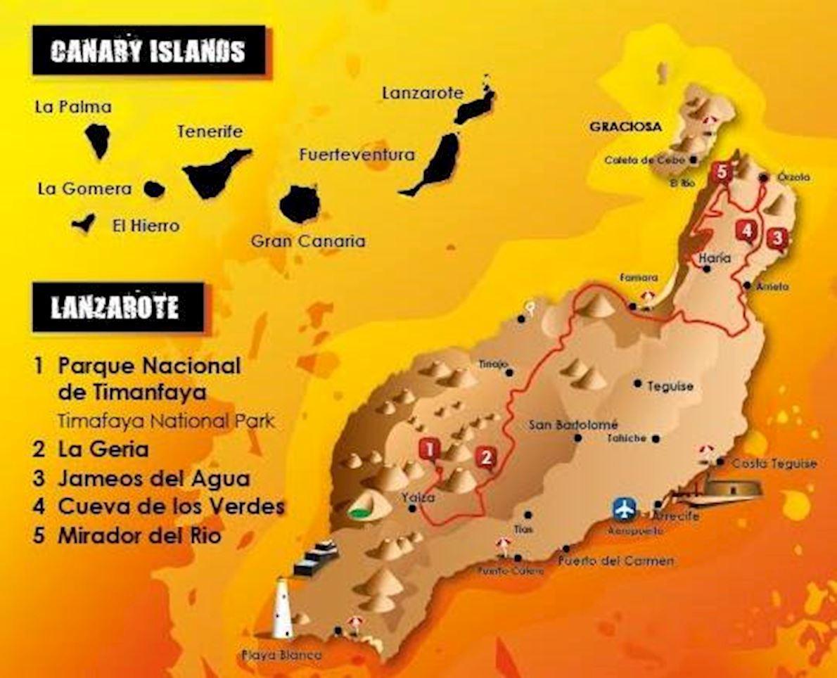 Haría Extreme Lanzarote Routenkarte