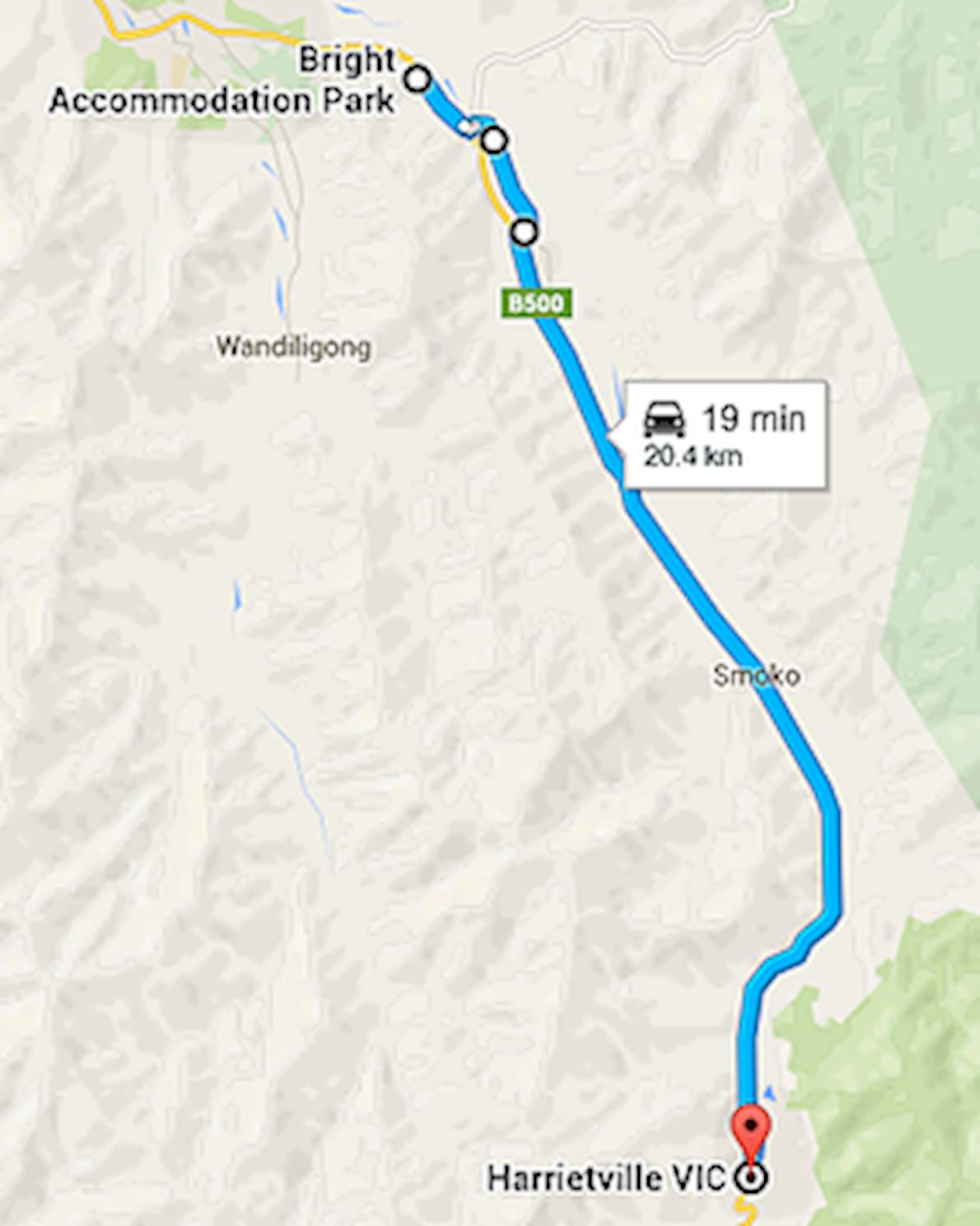Harrretville Half Marathon Mappa del percorso