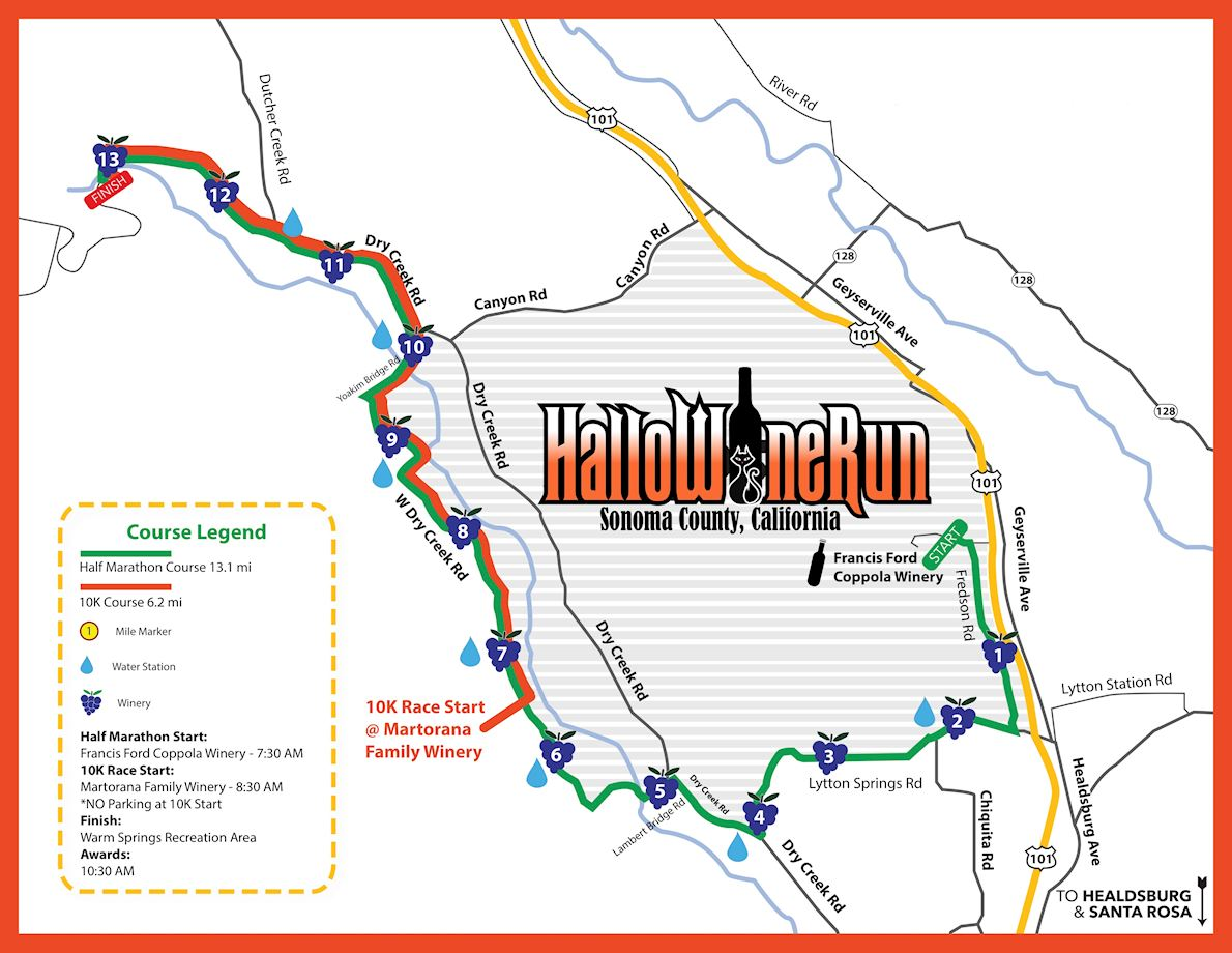 The Hallowine Run MAPA DEL RECORRIDO DE
