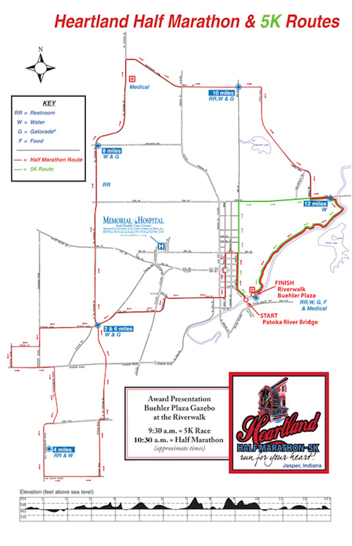 Heartland Half Marathon Route Map