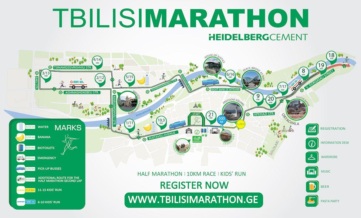HeidelbergCement TbilsiMarathon Mappa del percorso