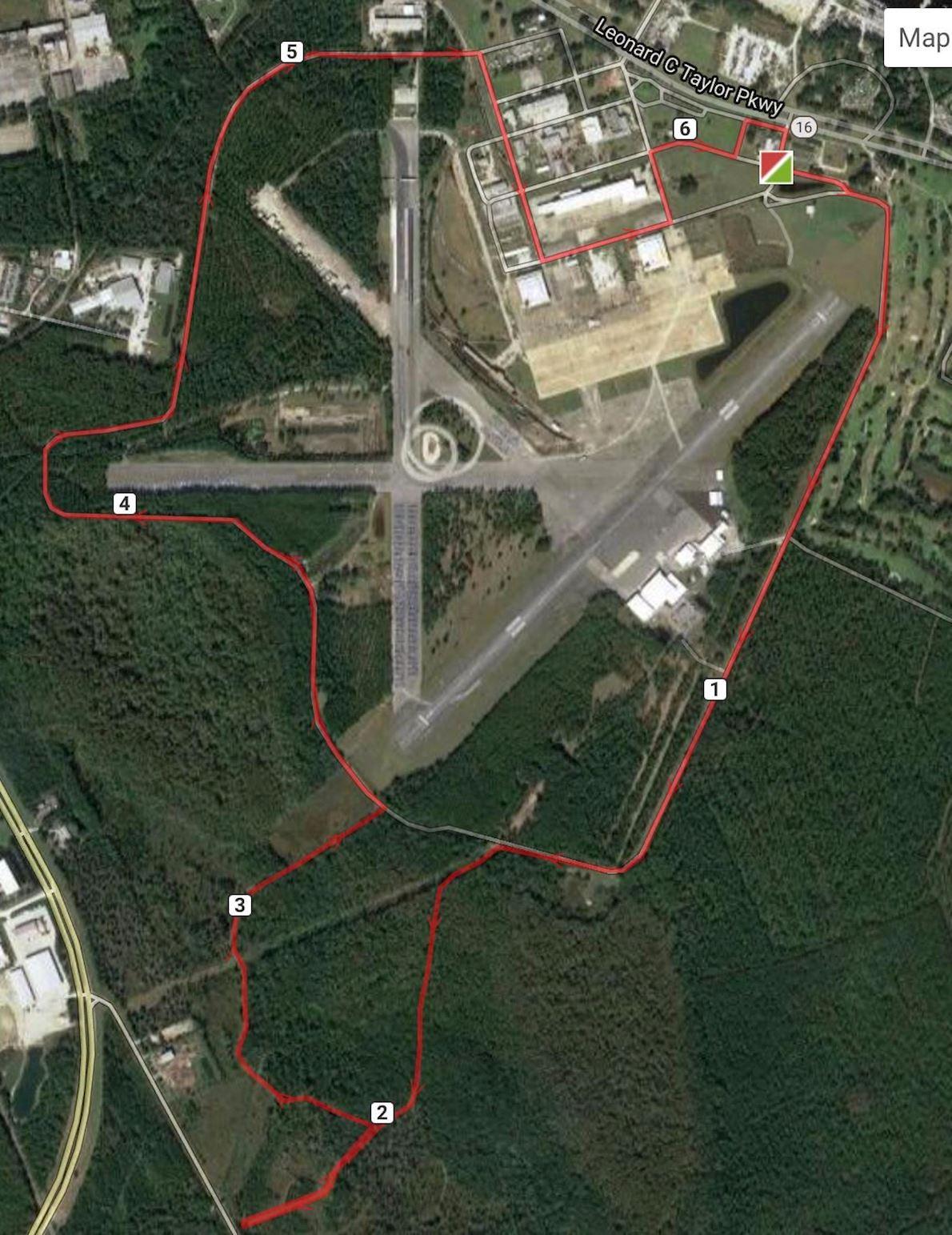 Hellcat 10k, 30k, 50k Route Map