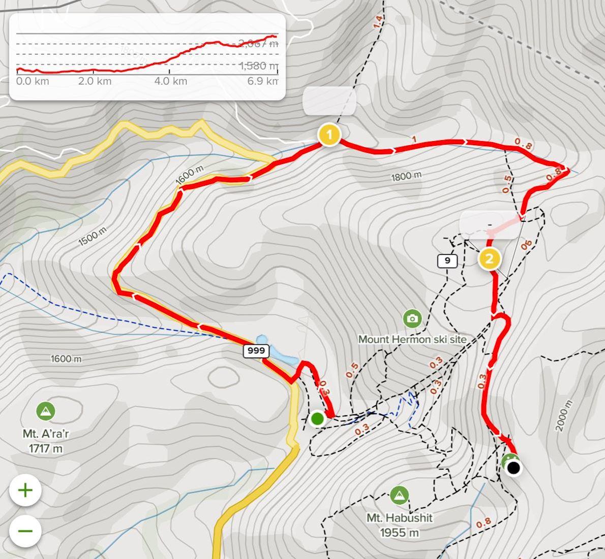Hermon Challenge Route Map