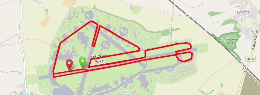 Heyford Air Base Half Marathon Route Map