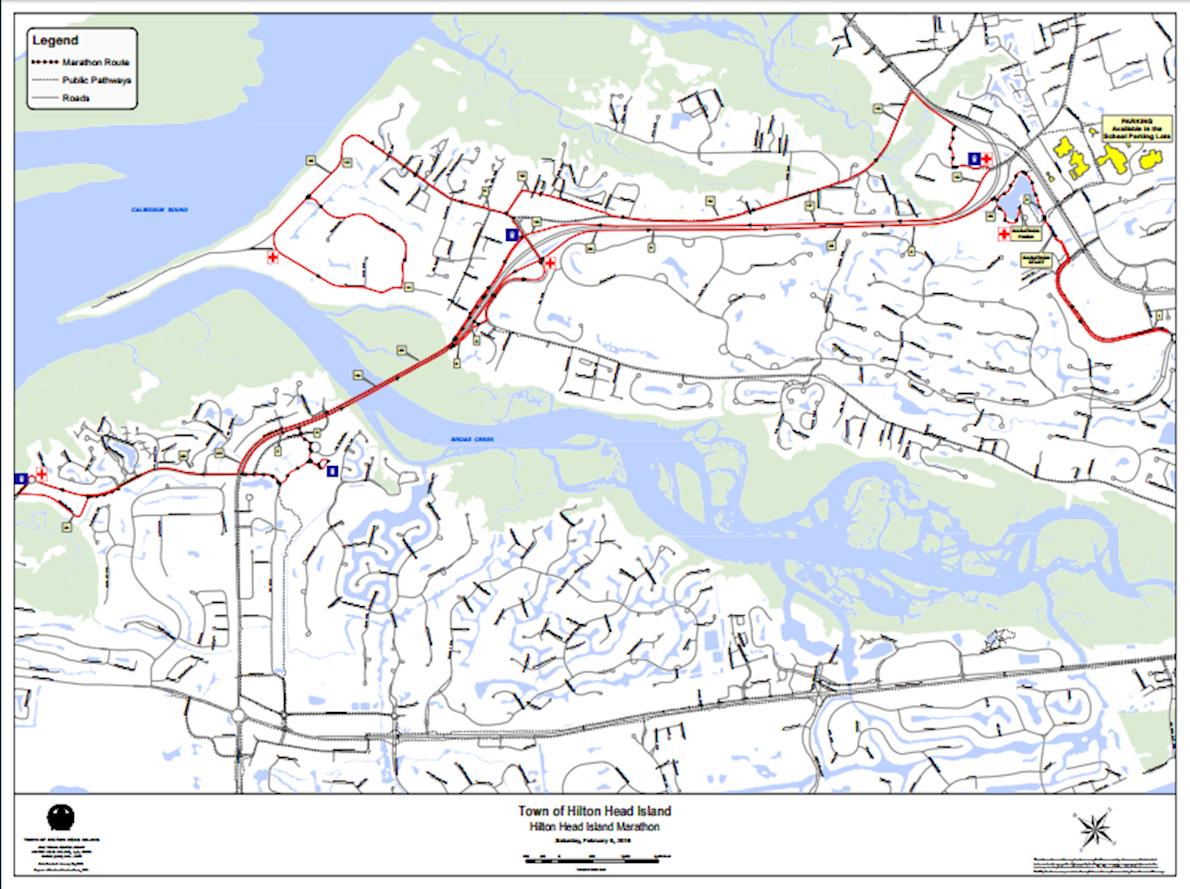 hilton head island marathon route map. hilton head island marathon feb    world's marathons