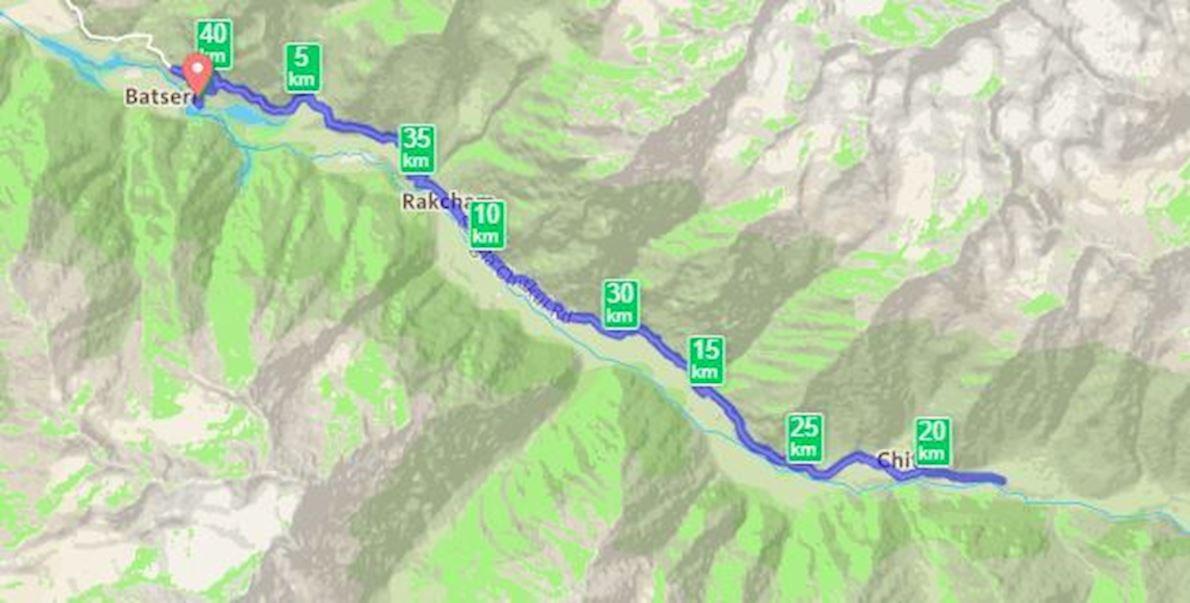 Himalayan Running And Living XC Marathon 路线图