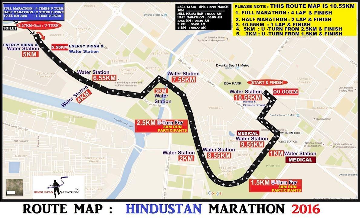 Hindustan Marathon Route Map