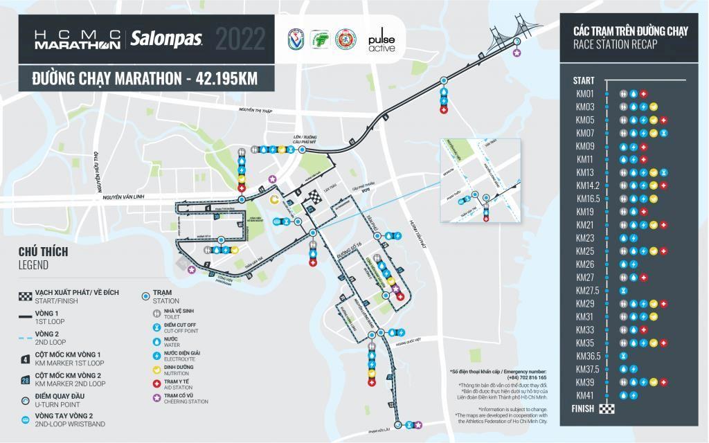 ho chi minh city marathon Route Map