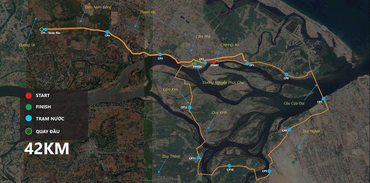 Hoi An Discovery Marathon 路线图