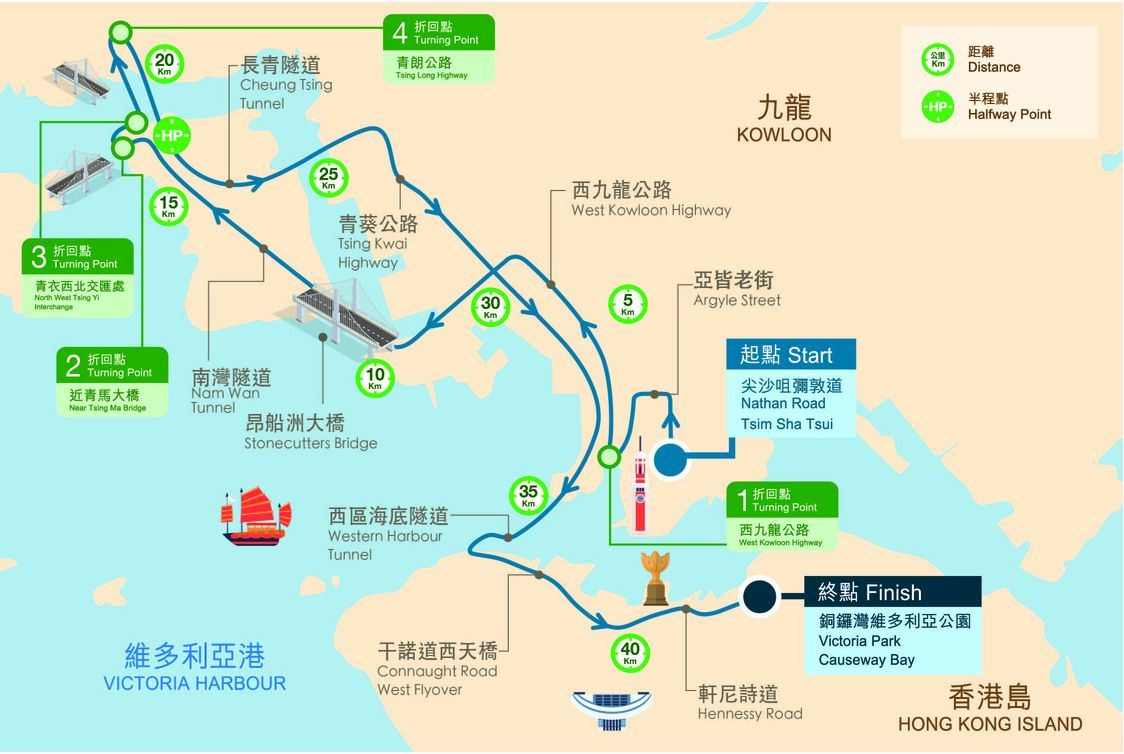 Standard Chartered Hong Kong Marathon Route Map