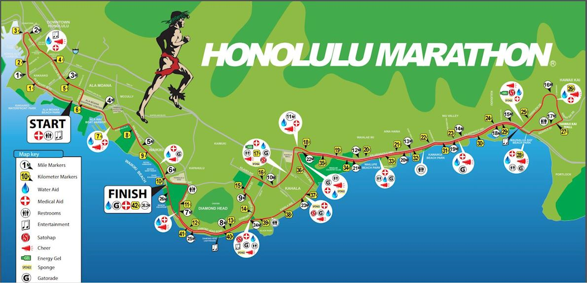 Honolulu Marathon 路线图