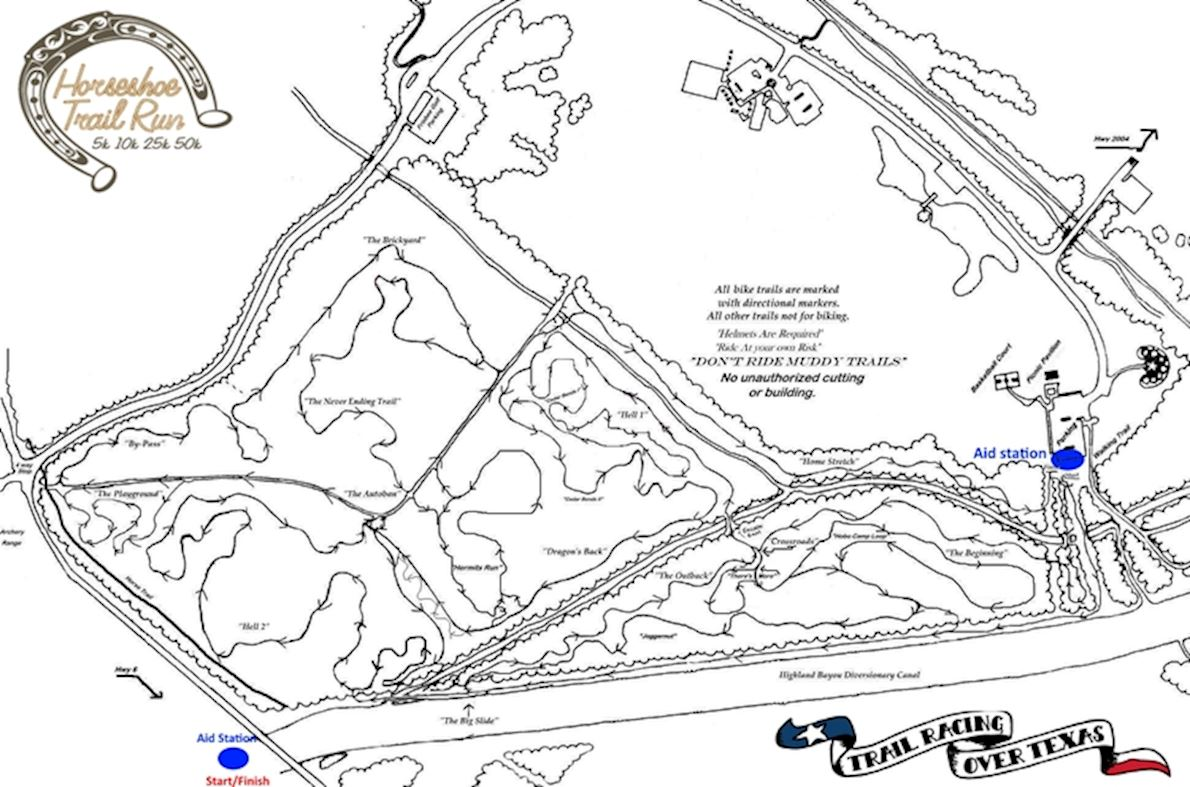 Horseshoe Trail Run MAPA DEL RECORRIDO DE
