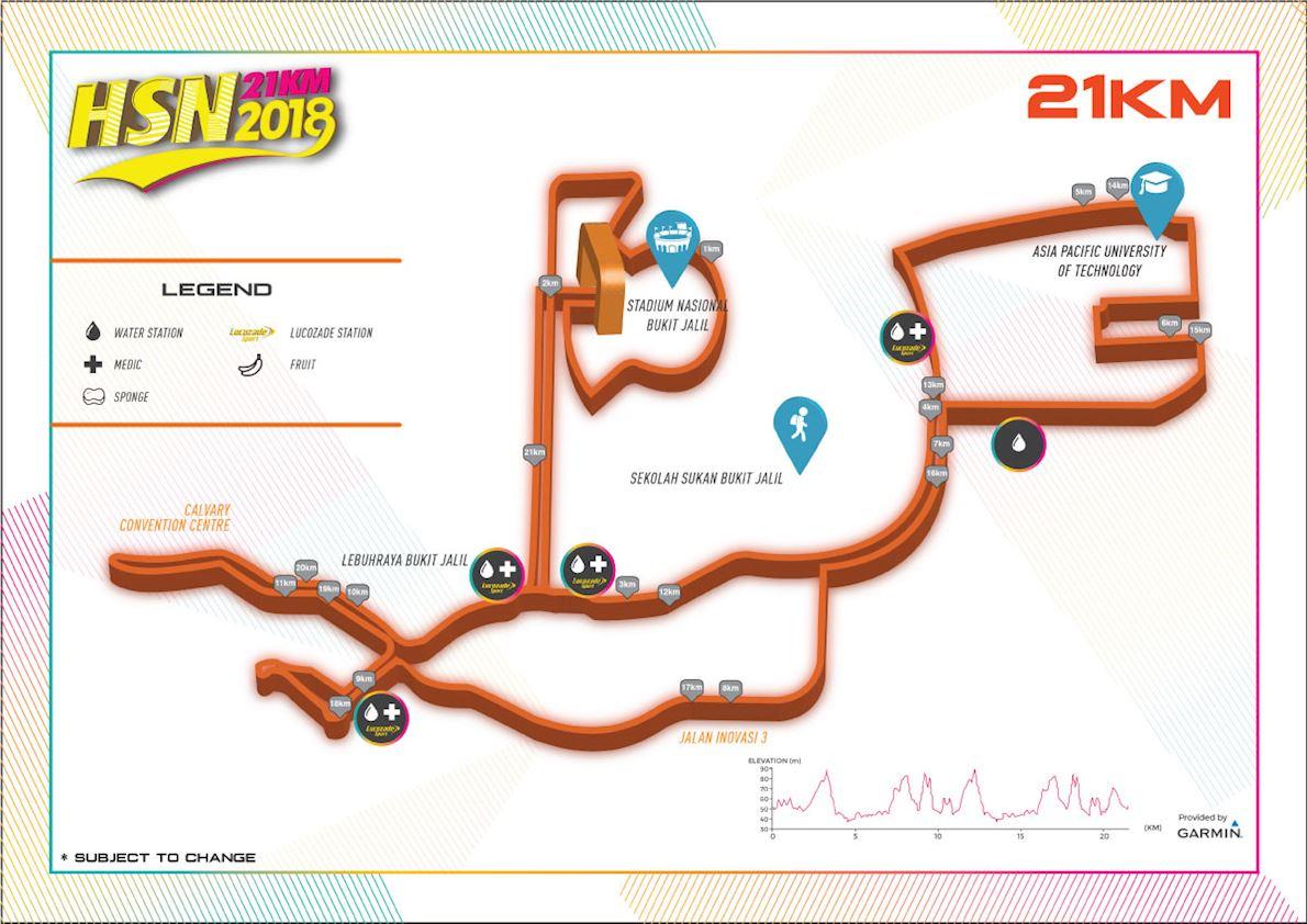 HSN21km 路线图
